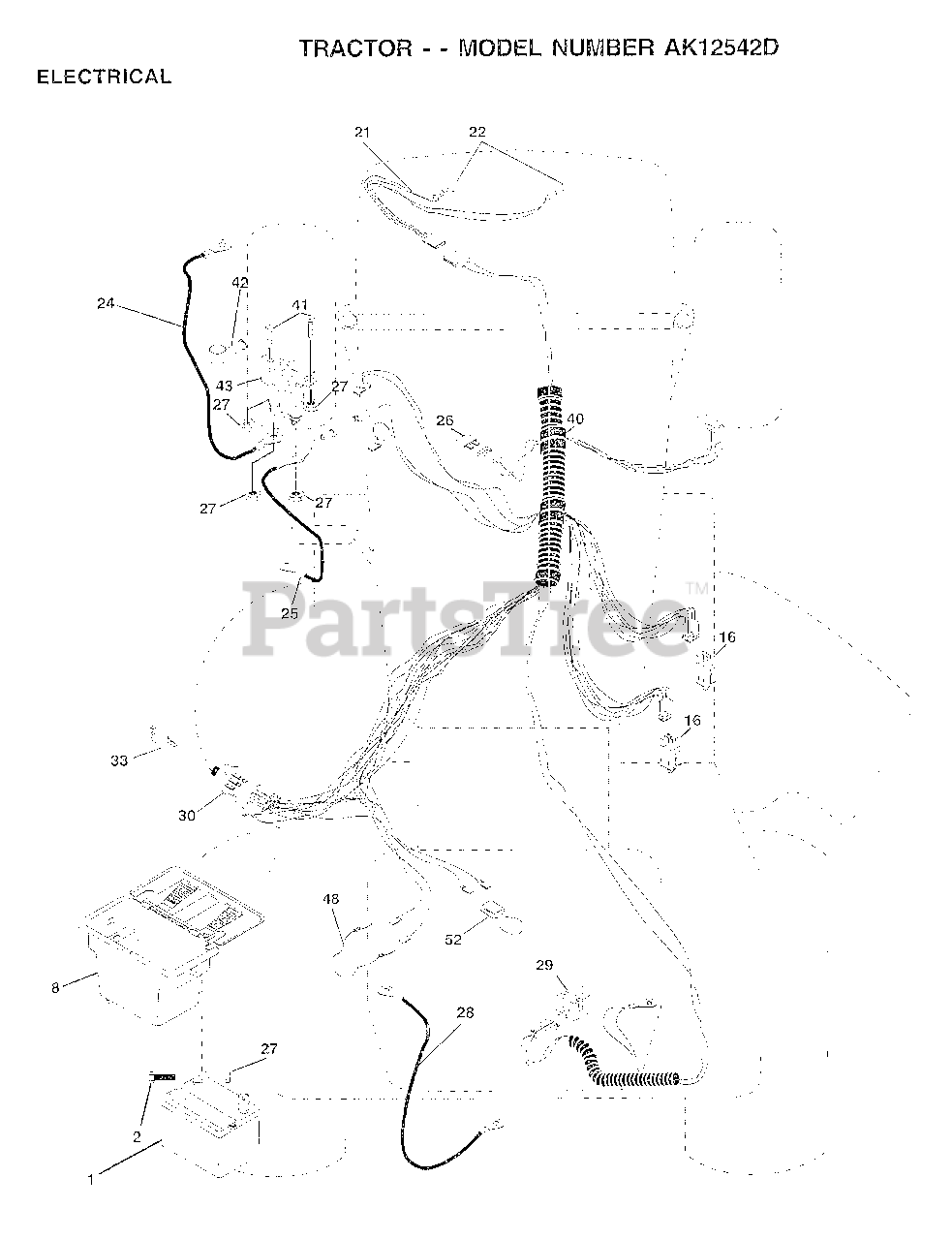 [DIAGRAM_38ZD]  Electrolux/AYP AK 12542 D - Electrolux/AYP Lawn Tractor ELECTRICAL Parts  Lookup with Diagrams   PartsTree   Lawn Tractors Wiring Diagram For Electrolux      PartsTree
