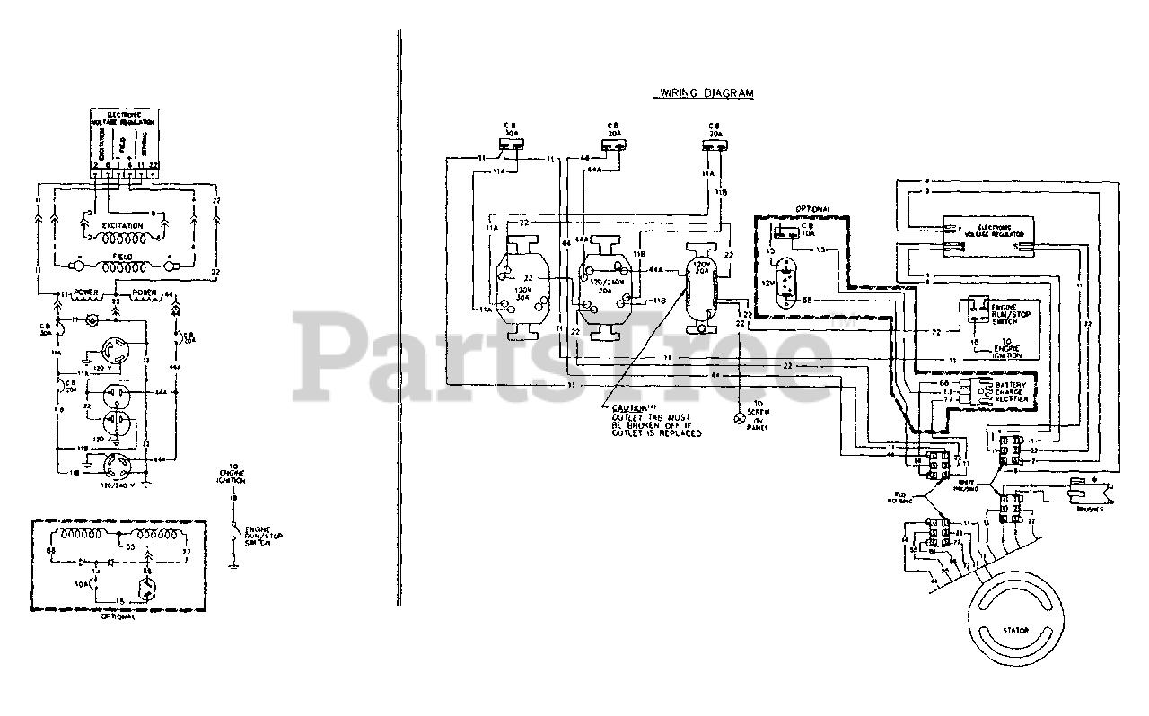 Generac C5010 (5559-0) - Generac 5,000 Watt Portable Generator Electrical  Schematic & Wiring Diagram Parts Lookup with Diagrams | PartsTree | Generac 5000 Generator Wiring Diagram |  | PartsTree