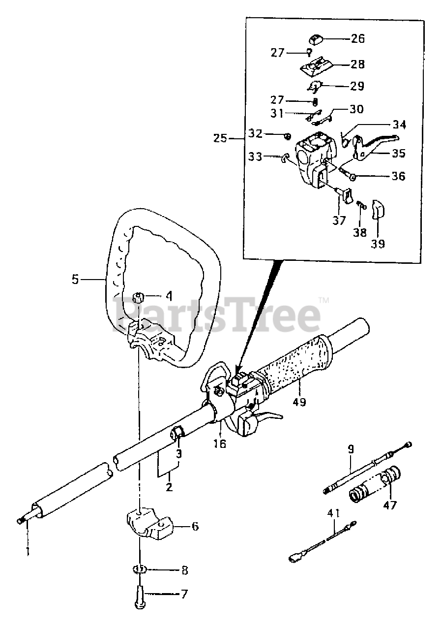 TANAKA 44833800800 stopper A mount bracket handle TBC-501 brushcutter Details about  /Genuine