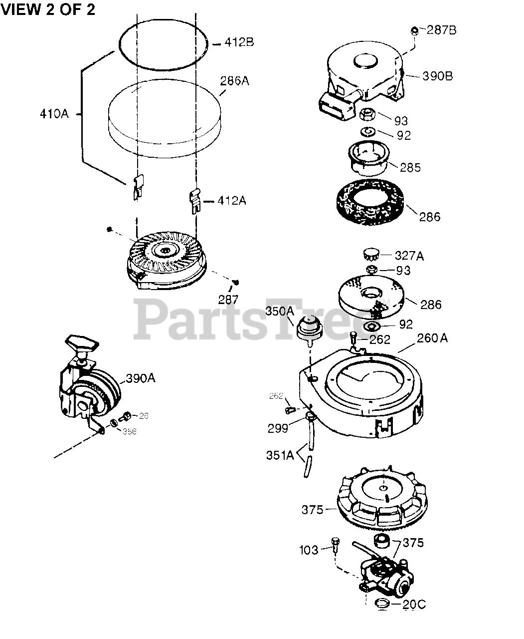 Tecumseh AV520-670-102 - Tecumseh Engine Engine Parts List #2 Parts Lookup  with Diagrams | PartsTreePartsTree