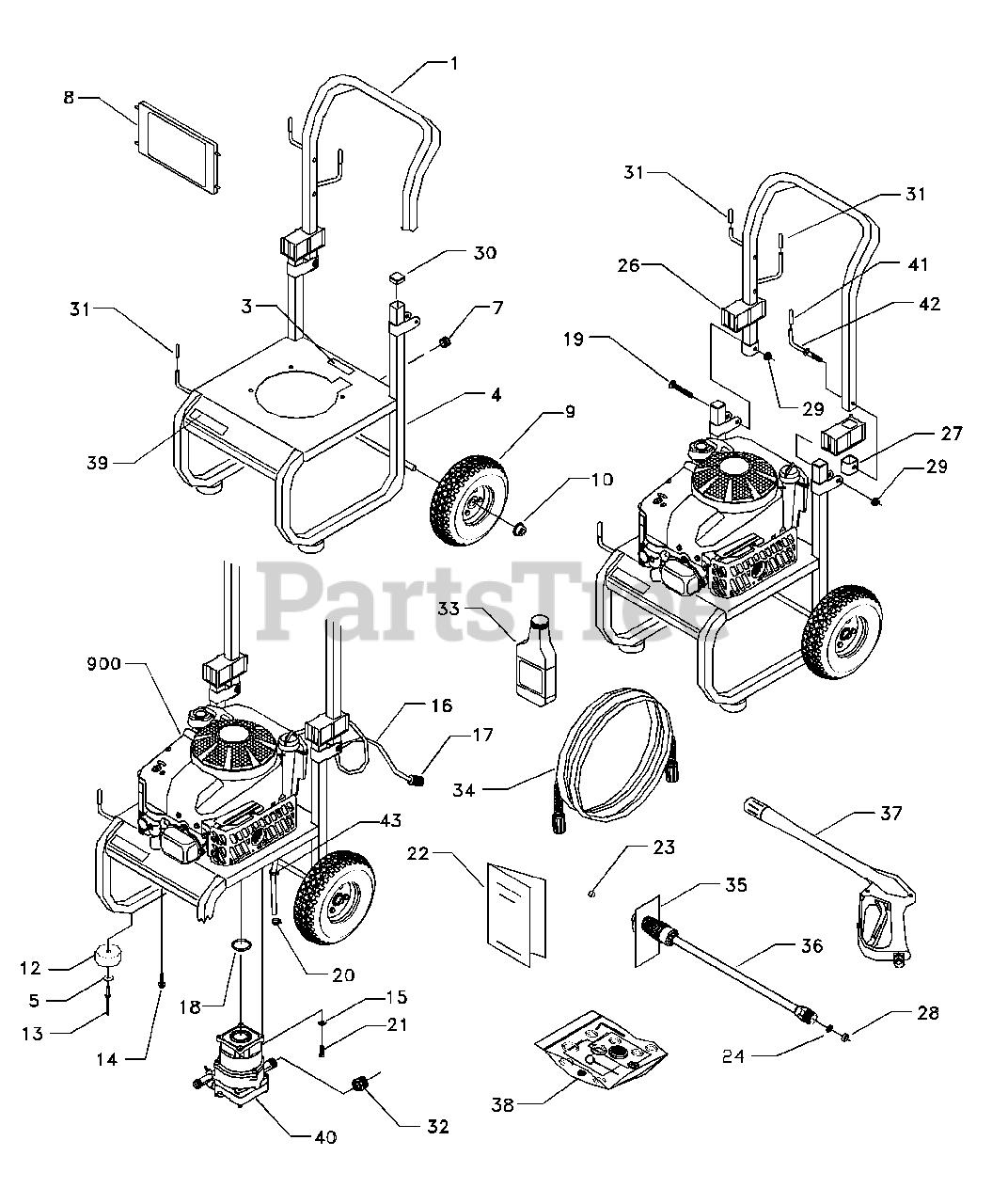 [ANLQ_8698]  Craftsman 580.767202 (1670-0) - Craftsman 2,250 PSI Pressure Washer Main  Unit Parts Lookup with Diagrams   PartsTree   Wiring Diagram For Craftsman Pressure Washer      PartsTree