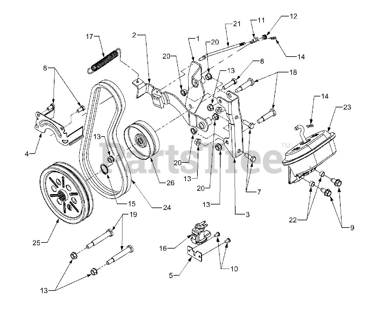 Cub Cadet Parts On The Front Pto Diagram For 3240  14a