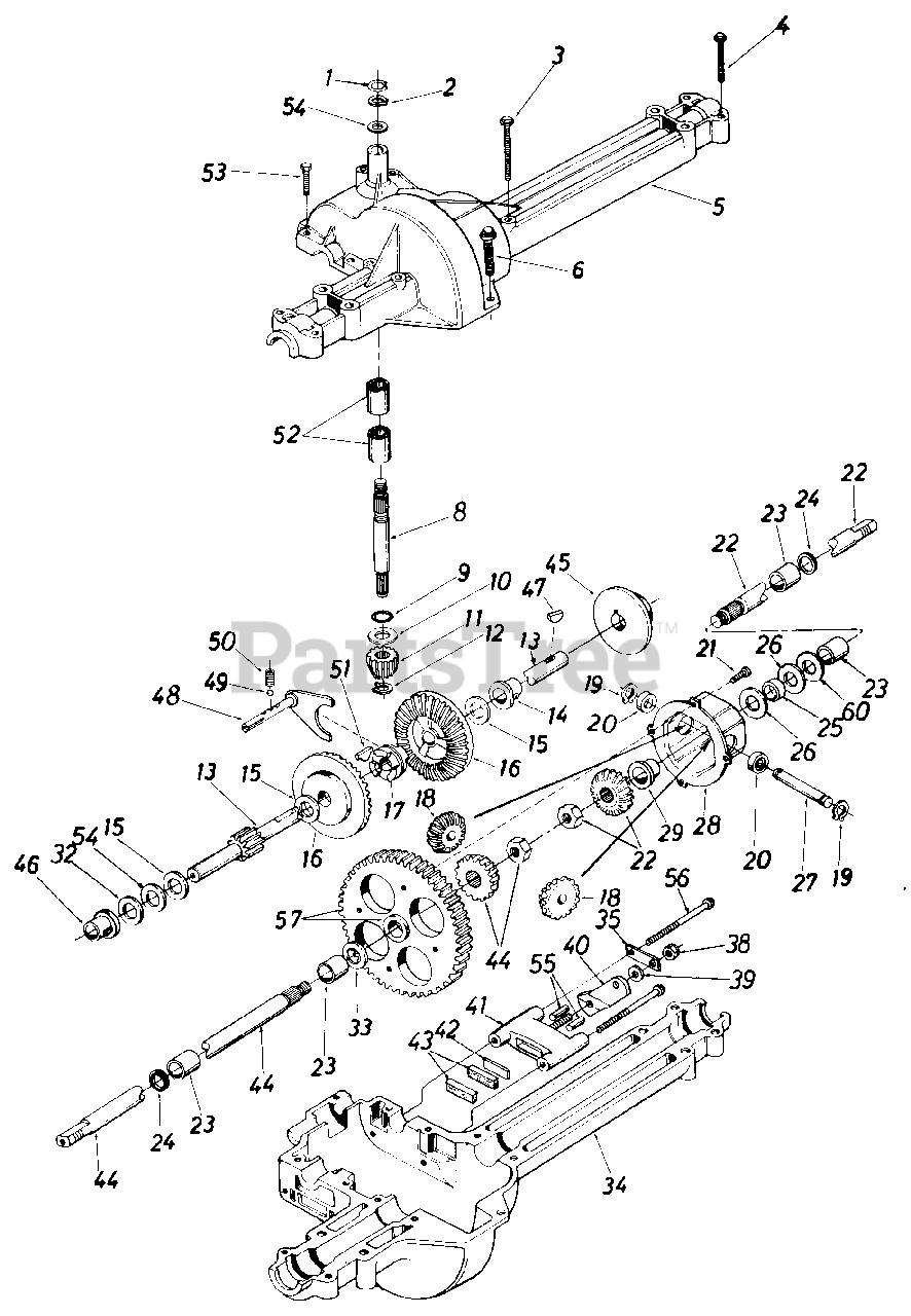 Montgomery Ward Parts On The Single Speed Transaxle Right