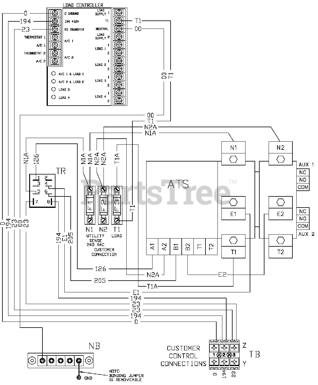 generac engine wiring diagram generac rtsr400a3s generac power transfer switch  sn 8438566  generac power transfer switch