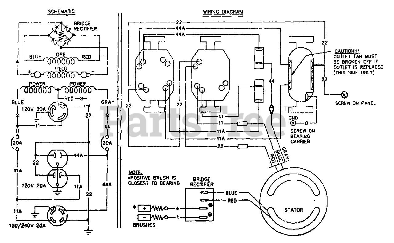 Generac S4002 (8973-4) - Generac 4,000 Watt Portable Generator Electrical  Schematic & Wiring Diagram Parts Lookup with Diagrams   PartsTree   Generac 4000 Wiring Schematic      PartsTree