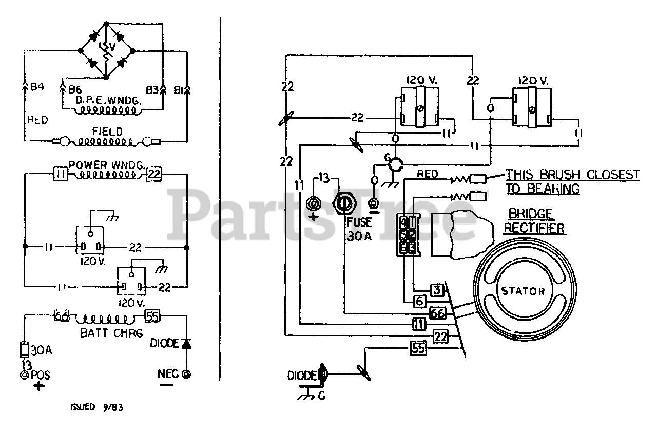 Craftsman 580.328171 (8760-1) - Craftsman 1,350 Watt Portable Generator  Electrical Schematic/Wiring Diagram Parts Lookup with Diagrams | PartsTreePartsTree