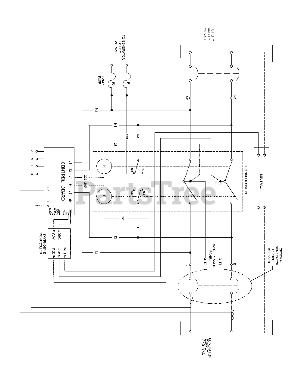 [EQHS_1162]  Briggs & Stratton 071070-02 - Briggs & Stratton 150 Amp Transfer Switch, Symphony  II Wiring Schematic (80011233WS) Parts Lookup with Diagrams | PartsTree | Symphony Transfer Switch Wiring Diagram 2 |  | PartsTree