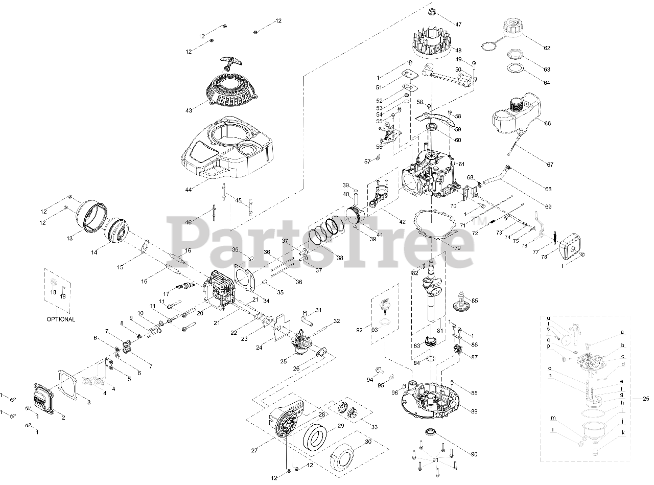Cub Cadet 1T65RUC - Cub Cadet 140cc Engine 1T65RUC General Assembly Parts  Lookup with Diagrams | PartsTreePartsTree