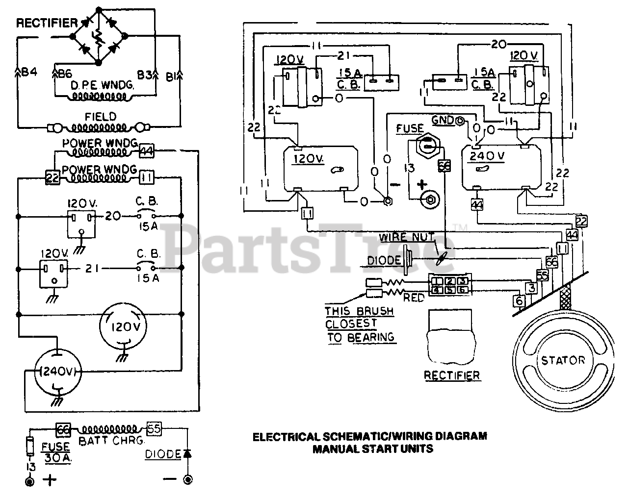Generac G4050 (8751-2) - Generac 4,000 Watt Portable Generator Electrical  Schematic And Wiring Diagram Manual Start Units Parts Lookup with Diagrams  | PartsTreePartsTree