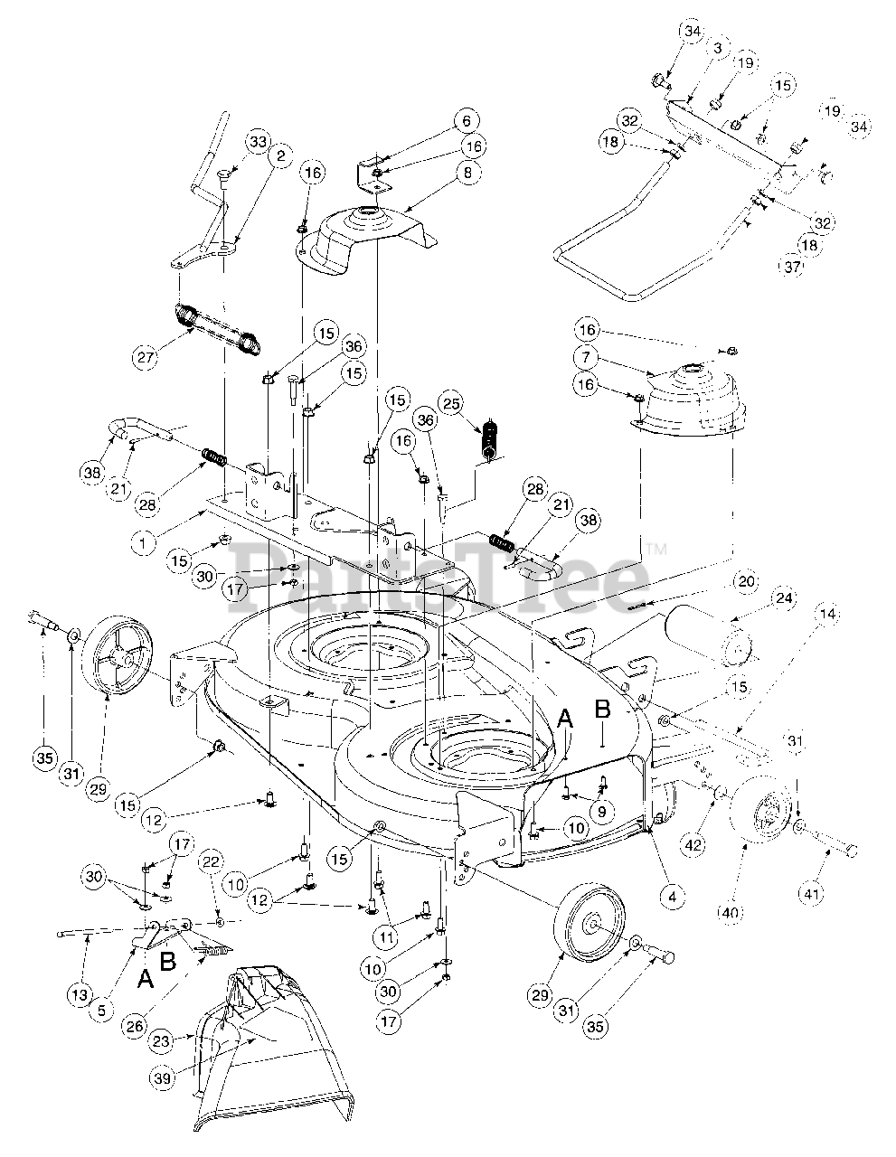 Cub Cadet Parts On The 38 N 359001