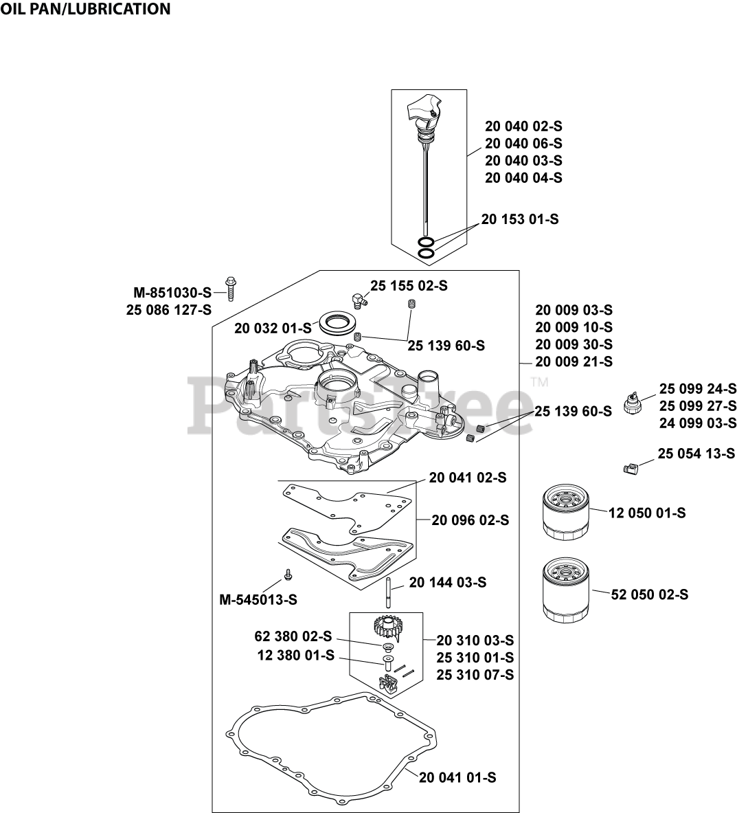 Kohler SV600-3223 - Kohler Courage Single Engine, Made for MTD, 20hp,  14.9kW Oil Pan/Lubrication 3-20-25 Parts Lookup with Diagrams | PartsTreePartsTree