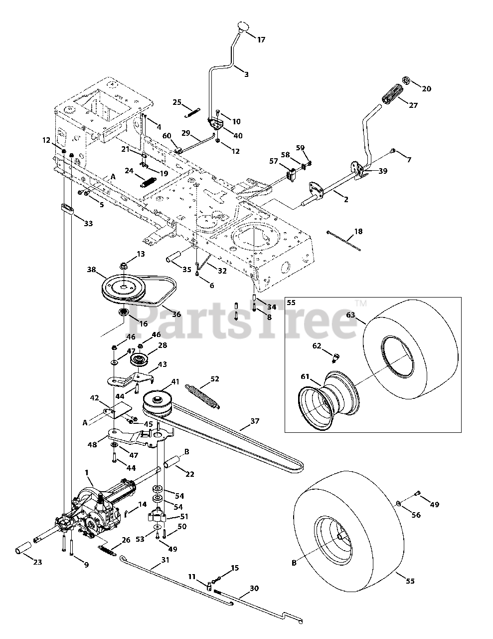 Huskee LT 4200 (13W2771S031) - Huskee Lawn Tractor (2012) Transmission  Drive Assembly Parts Lookup with Diagrams   PartsTreePartsTree