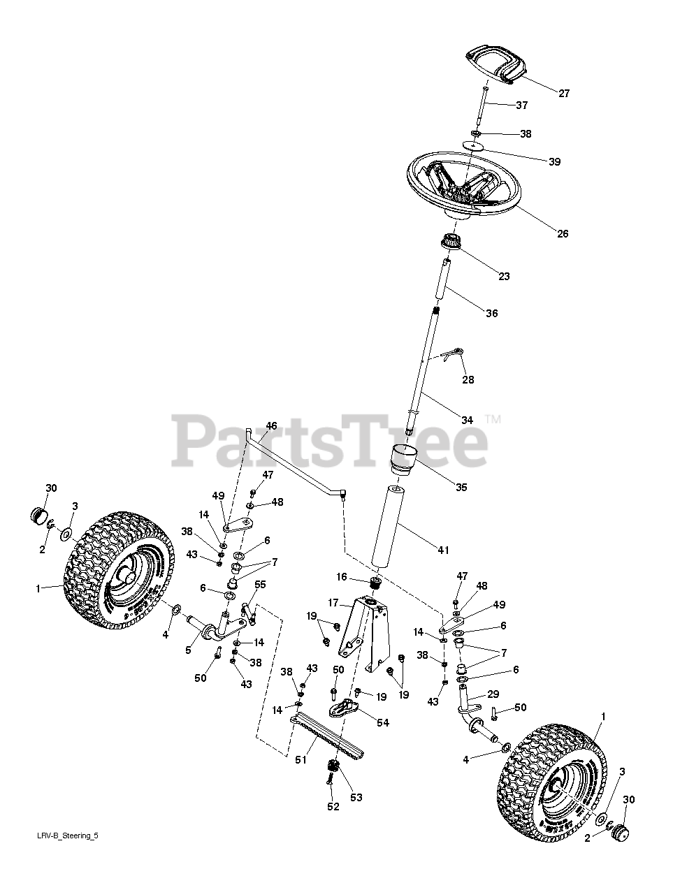 Poulan Pro Parts On The Steering Diagram For Pb 301