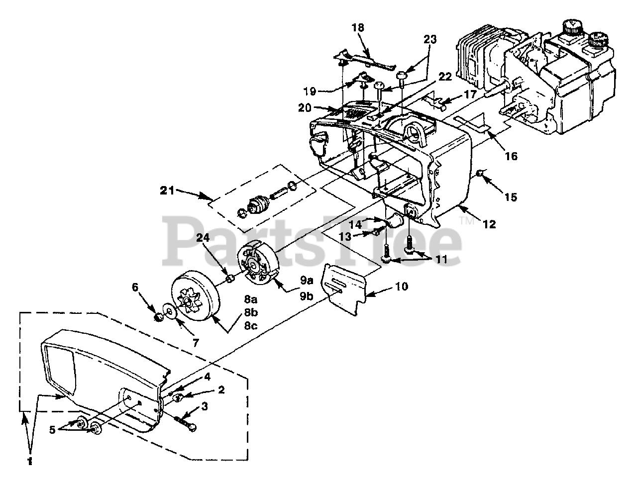 homelite 240 (ut 10630 c) homelite chainsaw engine housing concept diagrams architecture engine housing diagram #10