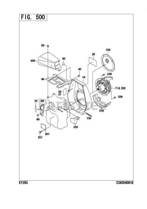 Subaru Robin EY280D12640 (EY28) - Subaru Robin Engine 500 Cooling &  Starting Parts Lookup with Diagrams | PartsTreePartsTree