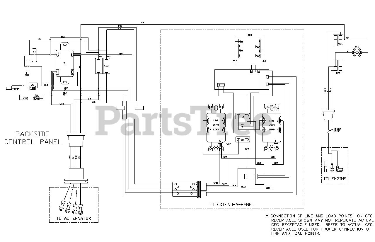 [WQZT_9871]  Troy-Bilt 030477A-02 - Troy-Bilt XP 7,000 Watt Portable Generator Wiring  Diagram (80012552WD) Parts Lookup with Diagrams   PartsTree   Portable Generators Repair Wiring Diagram      PartsTree