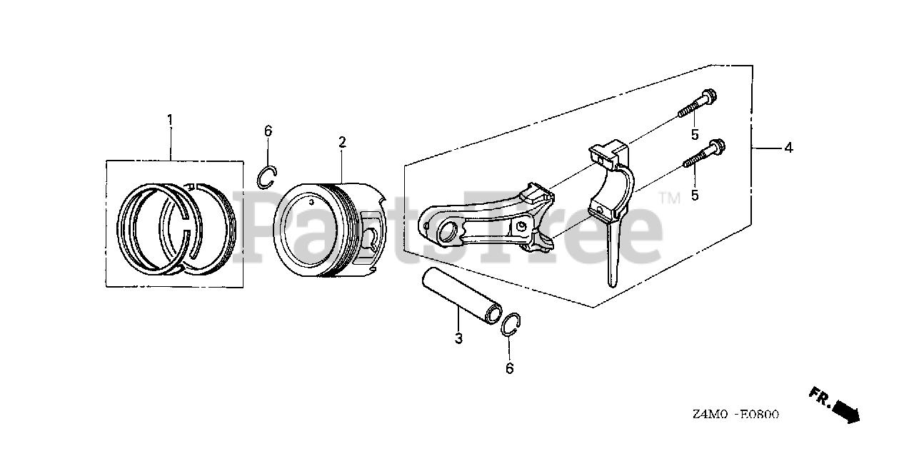 0.25 Honda 13011-Z4K-004 Ring Set