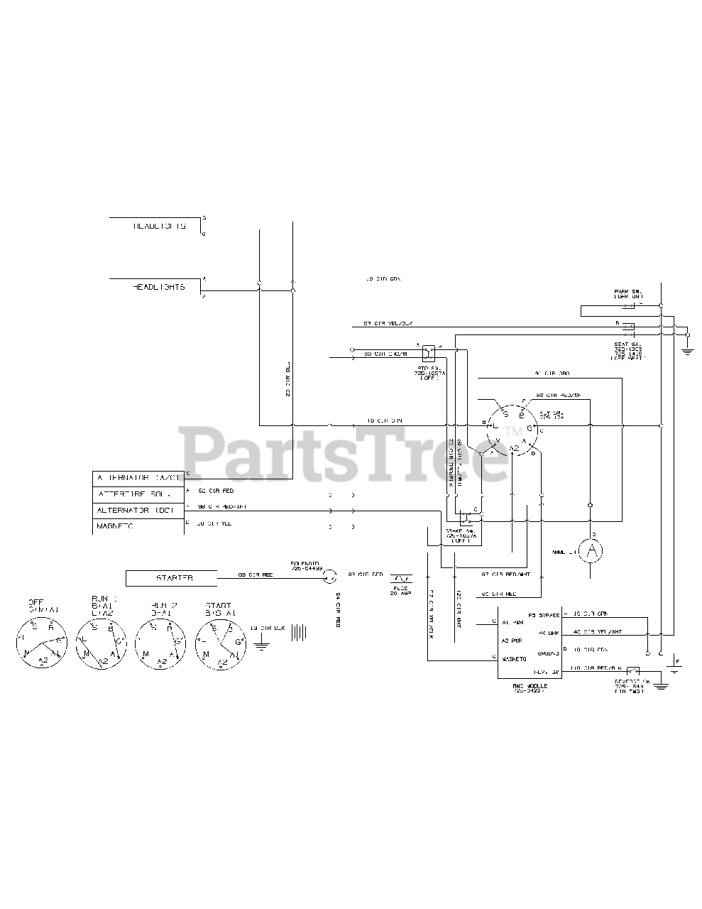 troy-bilt 13wx79kt011 - troy-bilt horse xp lawn tractor (2011) wiring  diagram parts lookup with diagrams | partstree  partstree