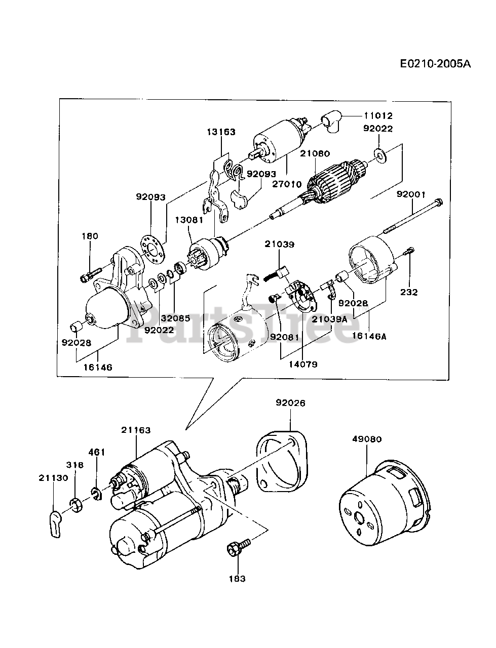 [DIAGRAM_4FR]  Kawasaki FG300D-FS01 - Kawasaki Engine STARTER Parts Lookup with Diagrams |  PartsTree | Kawasaki Engine Parts Diagrams |  | PartsTree