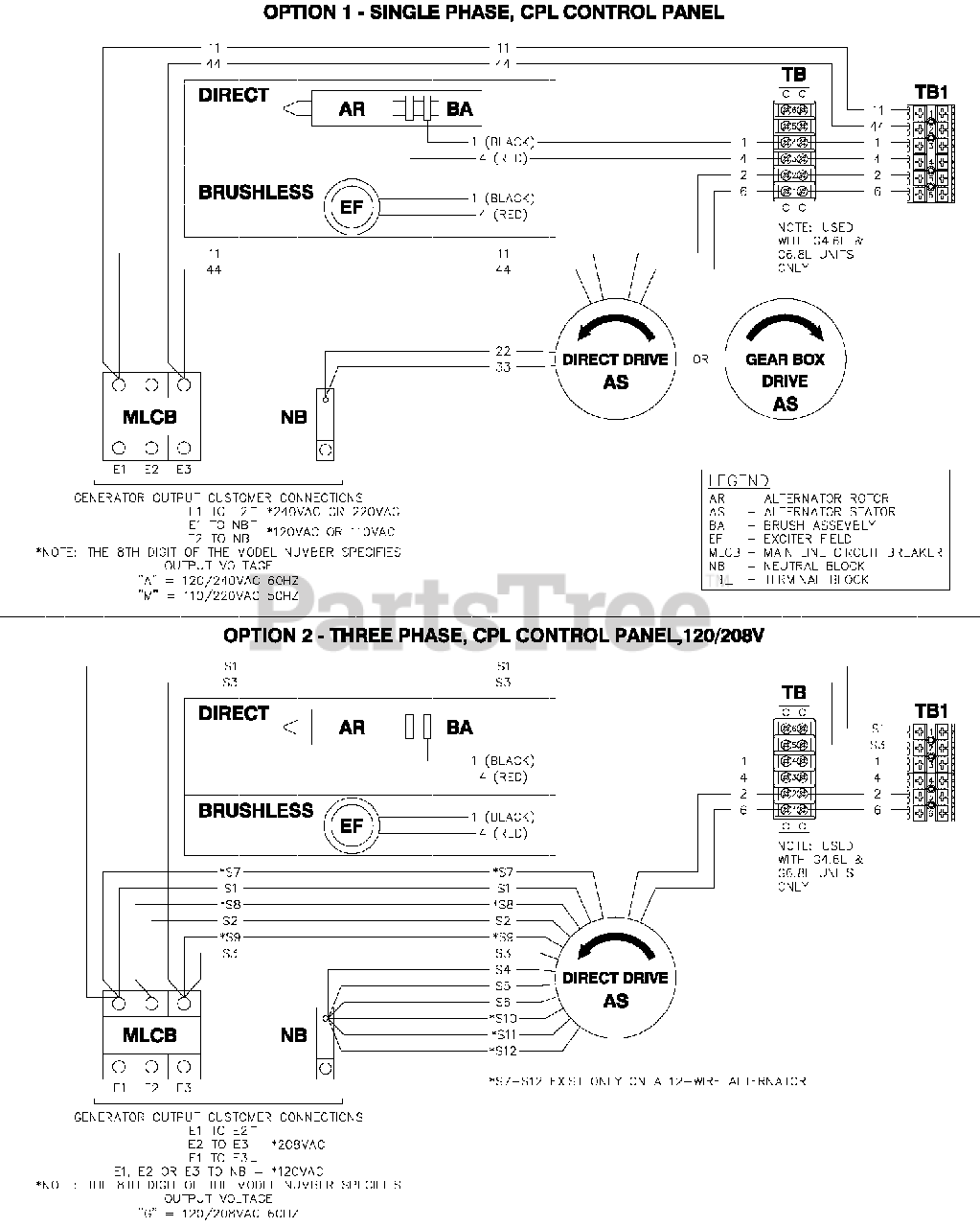 Generac QT03015GNSX - Generac 30kW Home Standby Generator (SN: 6999978 -  9591865) (2015) Wiring Diagram (0H6342) Parts Lookup with Diagrams |  PartsTree | Generac 30 Kw Wiring Diagram |  | PartsTree