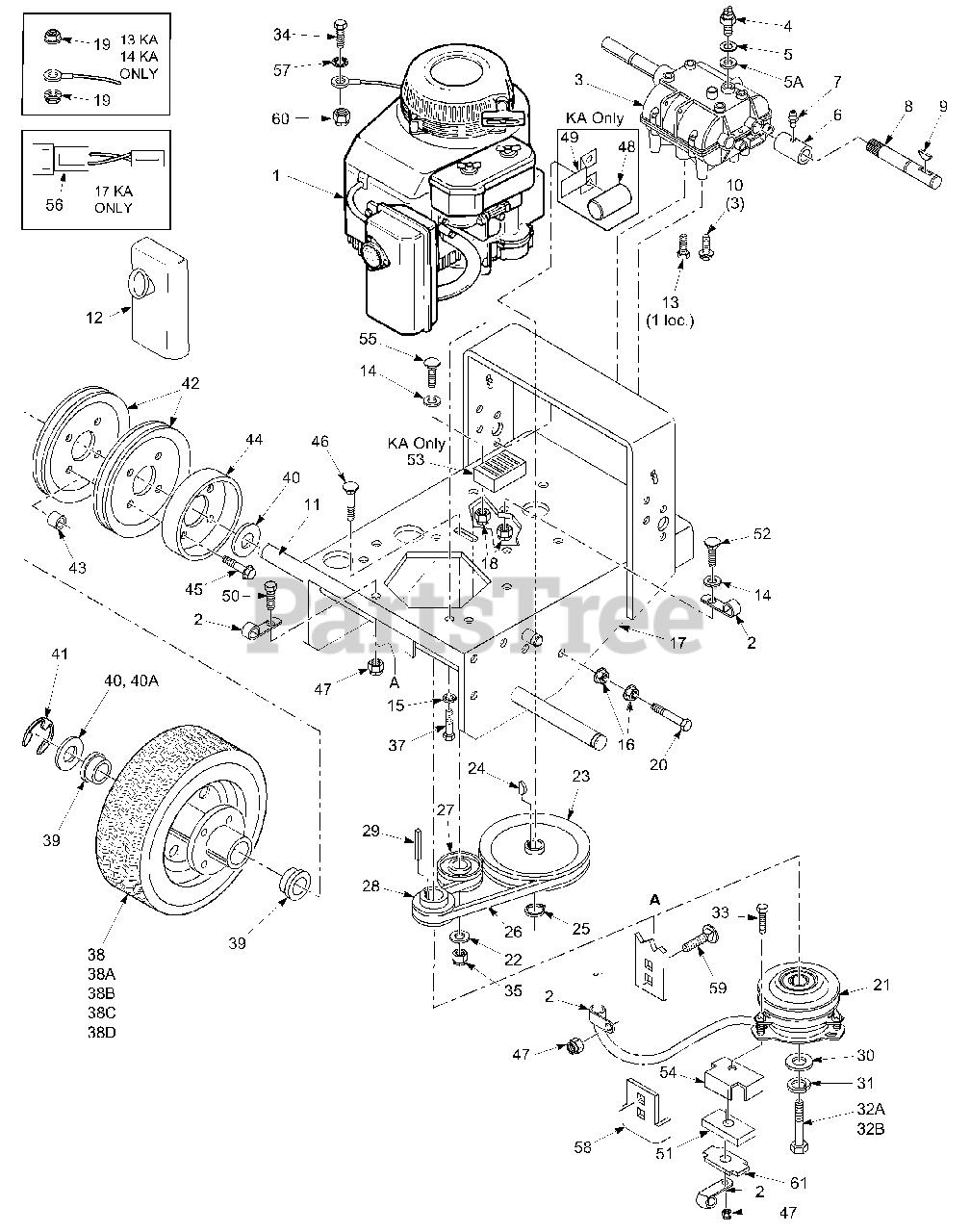 Scag Sw36a 13kh Scag 36 Walk Behind Mower 13hp Kohler Sn 7080001 7089999 Engine Deck Parts Lookup With Diagrams Partstree