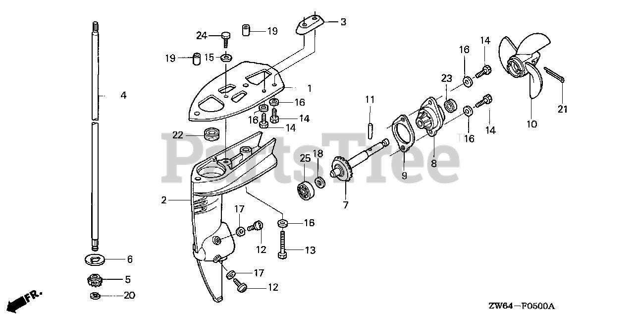 Vertical; New # 41112-ZW6-C00 Made by Honda Honda 41112-ZW6-020 Shaft
