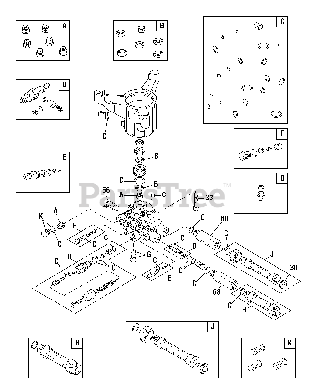 Troy-Bilt 020641-00 - Troy-Bilt 3,100 PSI Pressure Washer ...