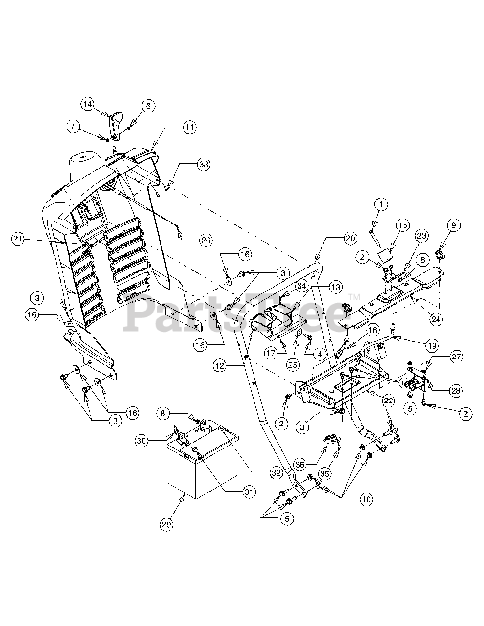 Cub Cadet Parts On The Dash Panel Diagram For 1515  13a