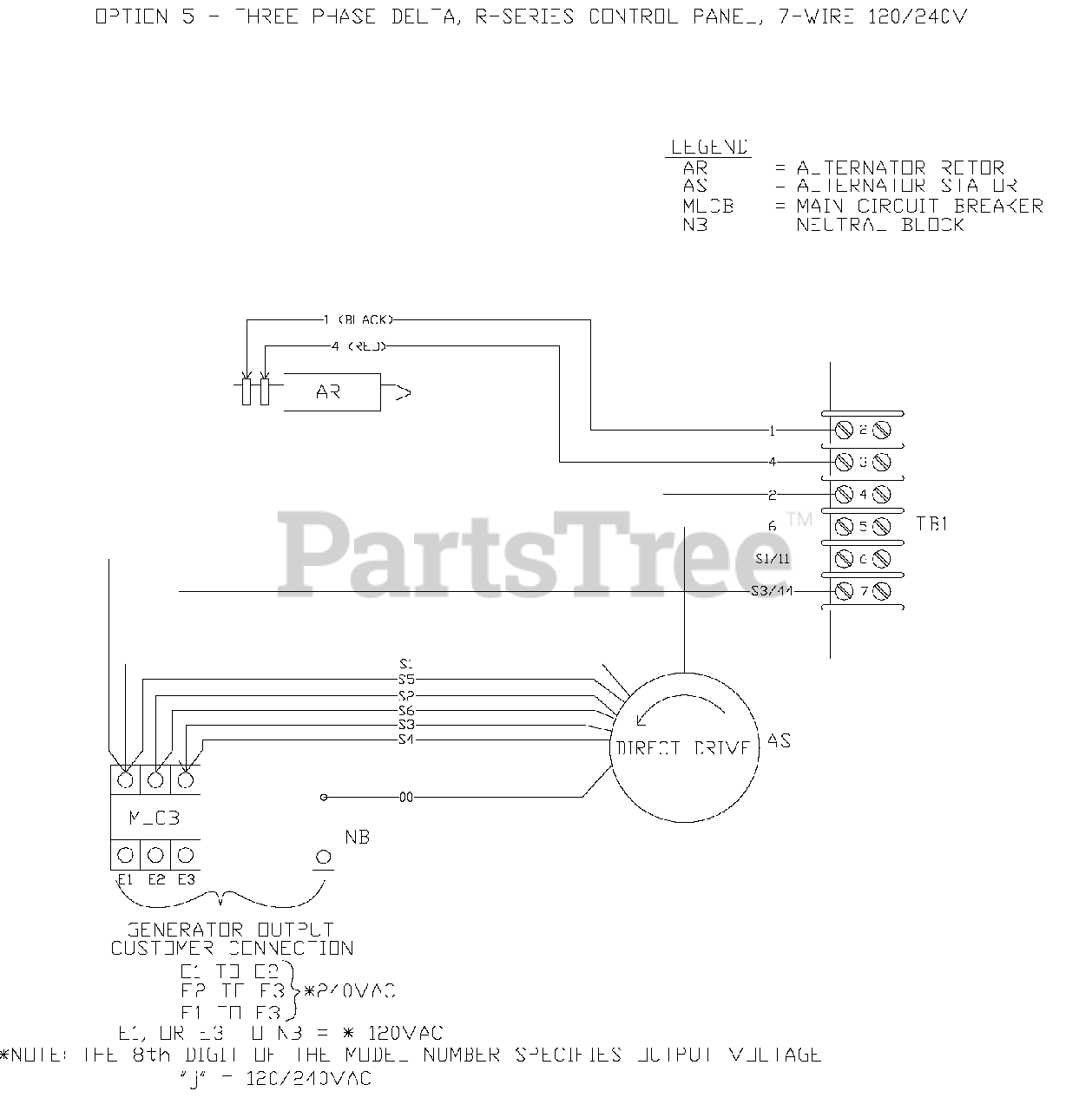 Generac QT03016KNSN - Generac 30kW Home Standby Generator (SN: 4911532 -  5036348) (2008) Wiring Diagram (0F6839) Parts Lookup with Diagrams |  PartsTree | Generac 30 Kw Wiring Diagram |  | PartsTree