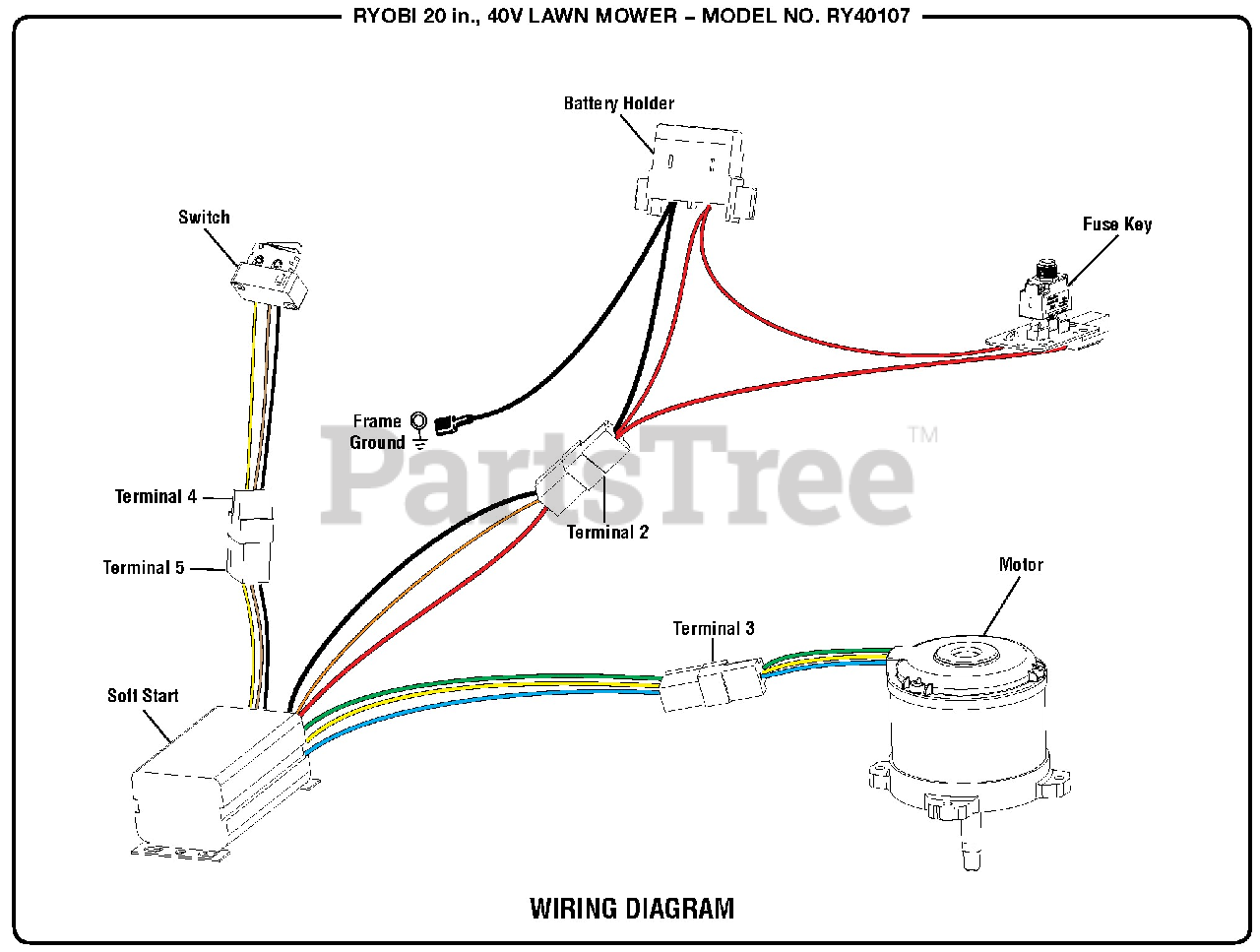 Lawn Mower Wiring Diagram from www.partstree.com