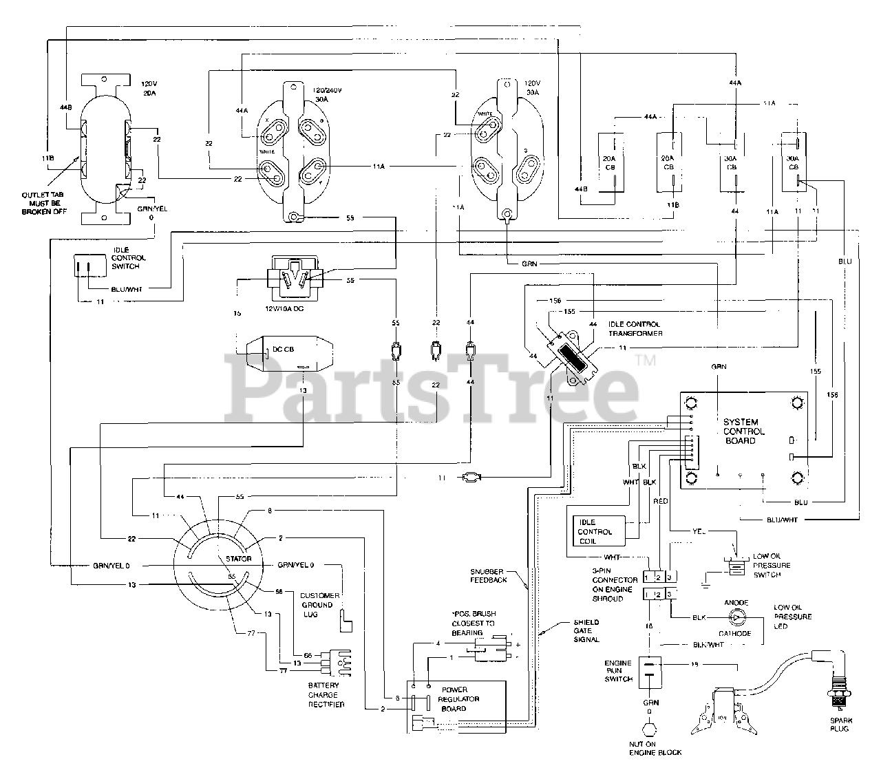 Generac 9778 7 Generac Xl 5 500 Watt Portable Generator Wiring Diagram Parts Lookup With Diagrams Partstree