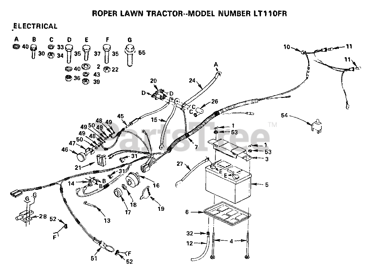 [FPWZ_2684]  Electrolux/AYP LT 110 FR - Electrolux/AYP Lawn Tractor ELECTRICAL Parts  Lookup with Diagrams   PartsTree   Lawn Tractors Wiring Diagram For Electrolux      PartsTree