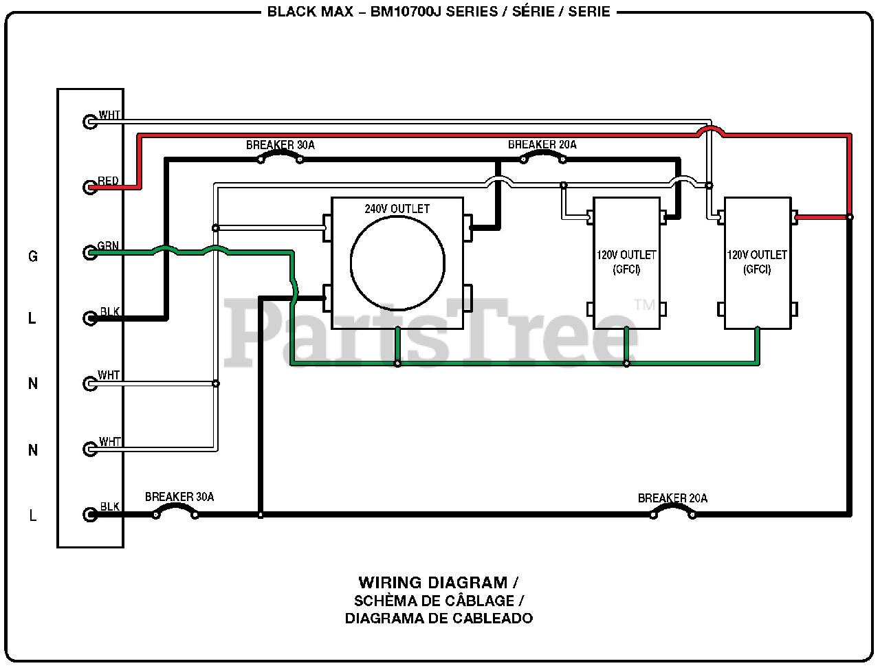 series wiring diagrams black max bm 10700 j black max 7 000 watt generator wiring  black max 7 000 watt generator wiring