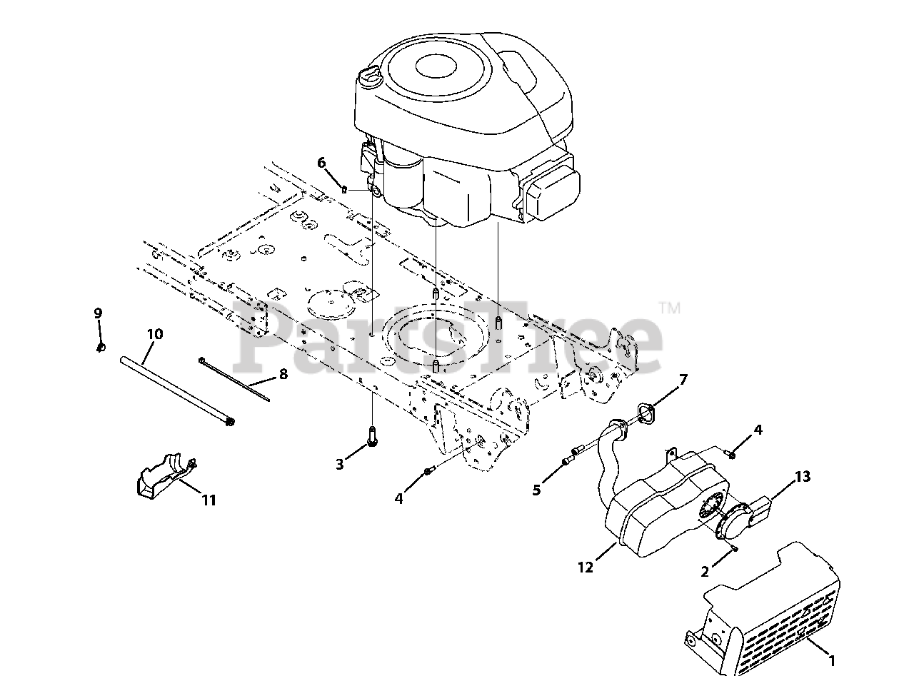 Yard Machines Parts On The Engine Accessories Diagram For