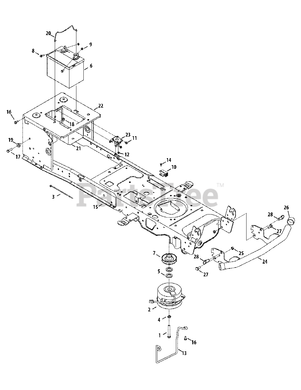 Cub Cadet Parts On The Frame  Electrical  U0026 Pto Diagram For