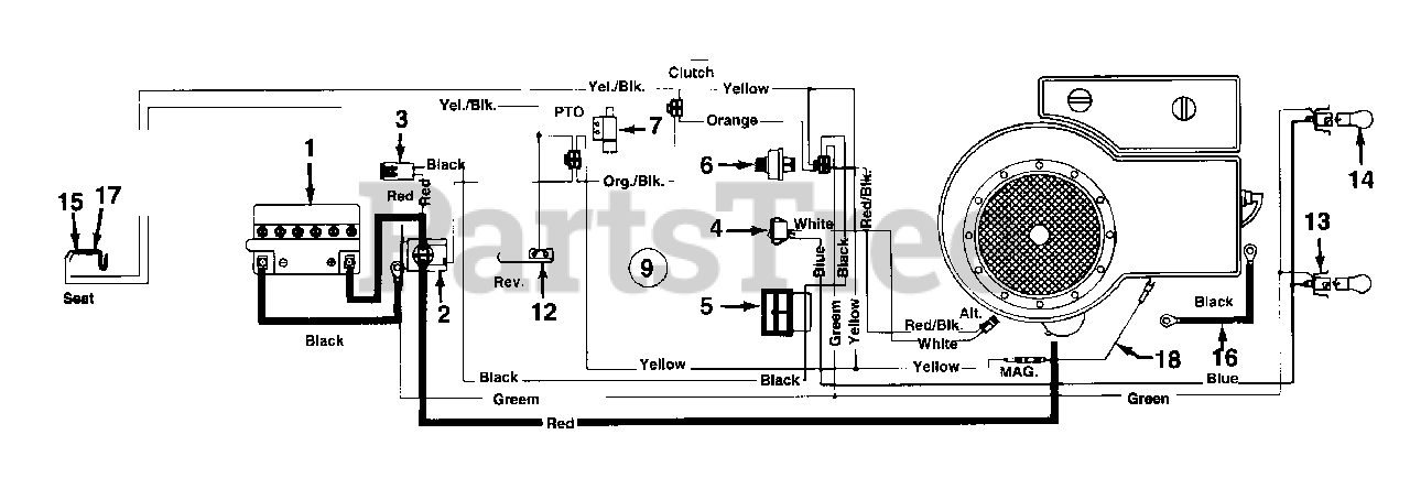 MTD 135L670F033 - MTD Lawn Tractor (1995) (Ace Hardware) Electrical/Switches  Parts Lookup with Diagrams   PartsTreePartsTree