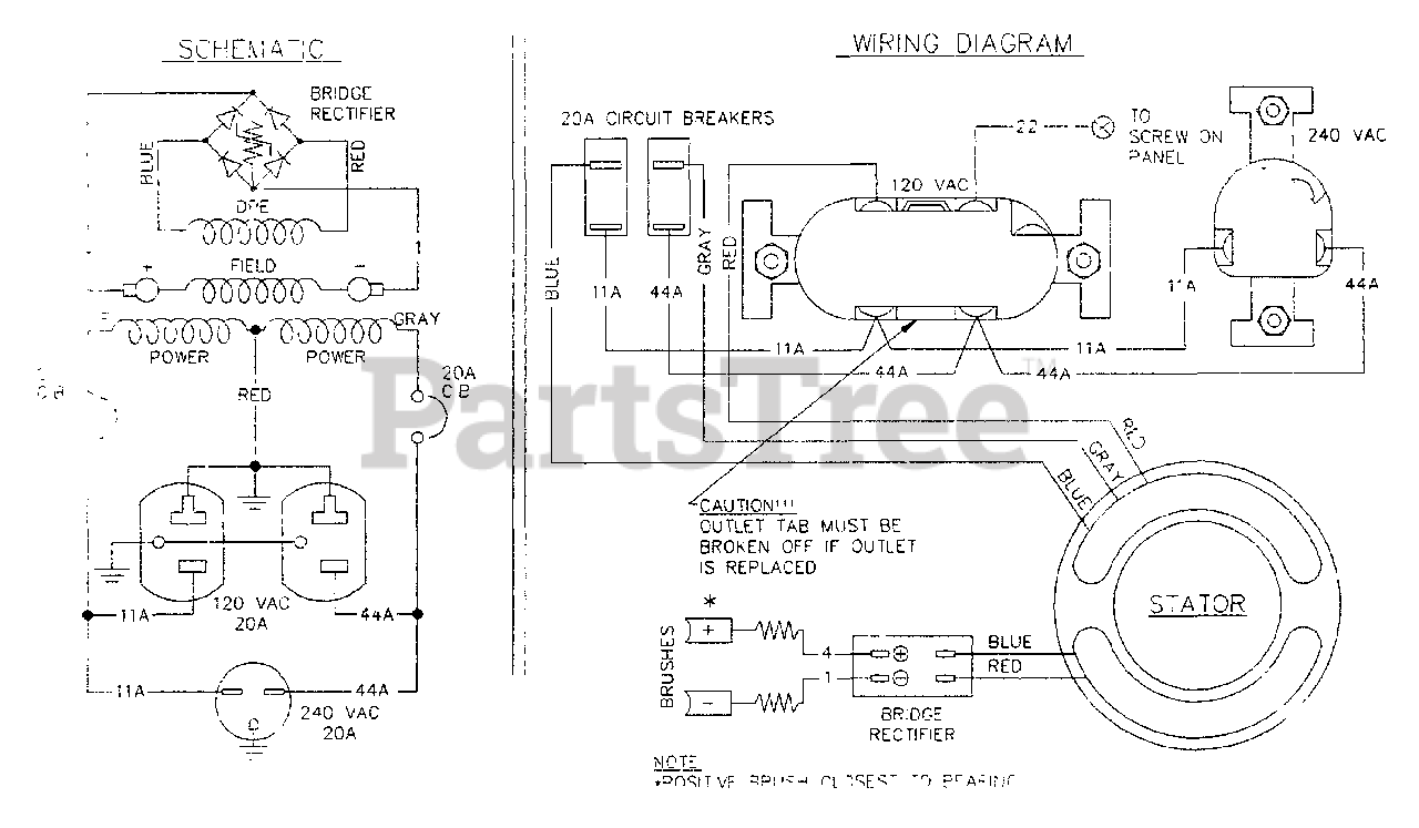 Generac 3ZC12 (9321-0) - Generac 4,000 Watt Portable Generator Wiring  Diagram for 3ZC12 A-C Generator Parts Lookup with Diagrams | PartsTree