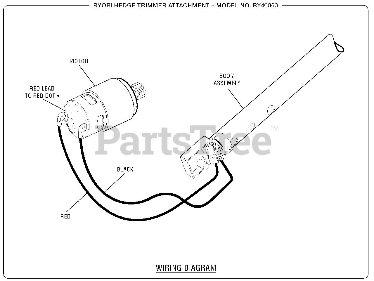 ryobi engine diagram ryobi ry 40060 ryobi hedge trimmer wiring diagram parts lookup  ryobi ry 40060 ryobi hedge trimmer