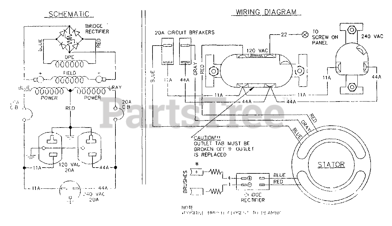 Generac S5019F (5519-0) - Generac 5,000 Watt Portable Generator Wiring  Diagram & Schematic Standard S-4000 Series Parts Lookup with Diagrams |  PartsTree | Generac 5000 Generator Wiring Diagram |  | PartsTree