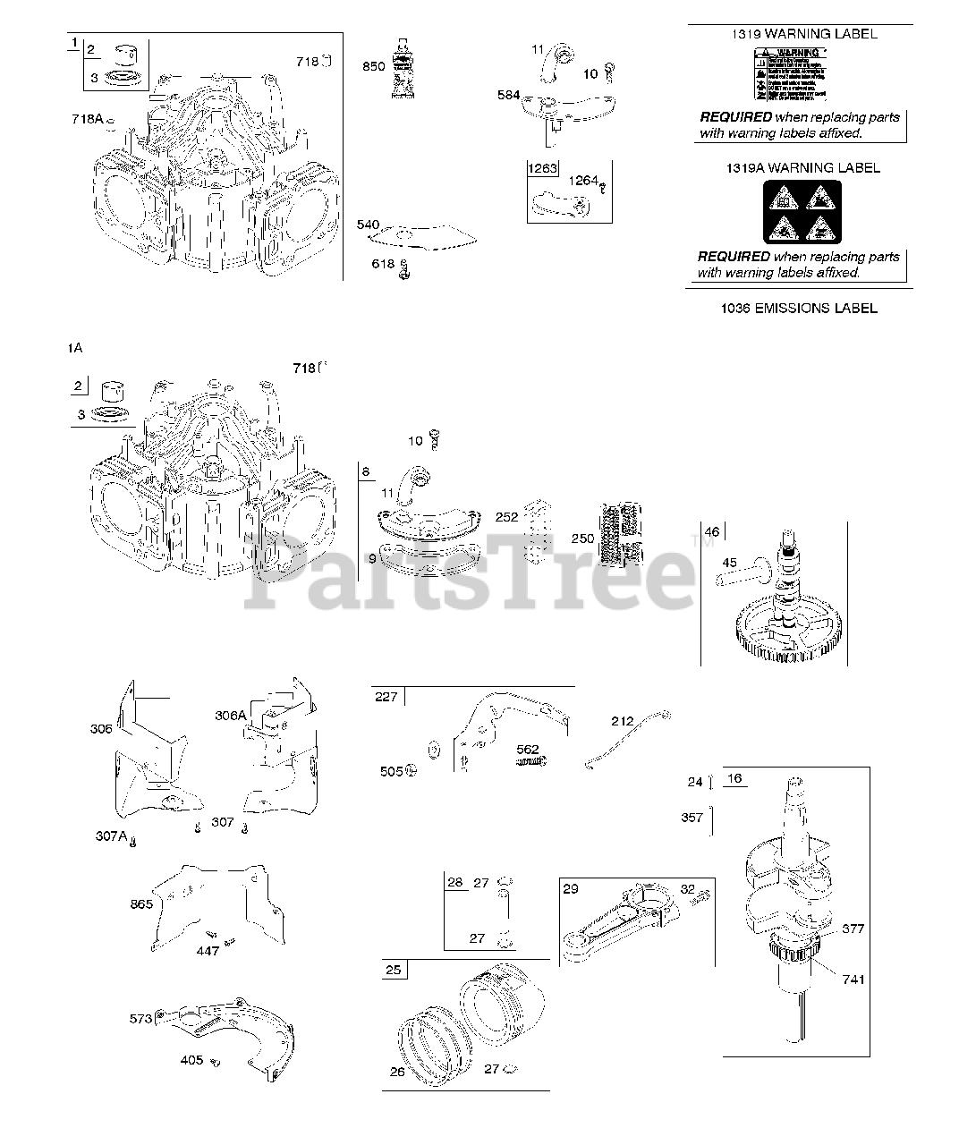 Briggs  U0026 Stratton Parts On The Cylinder  Crankshaft