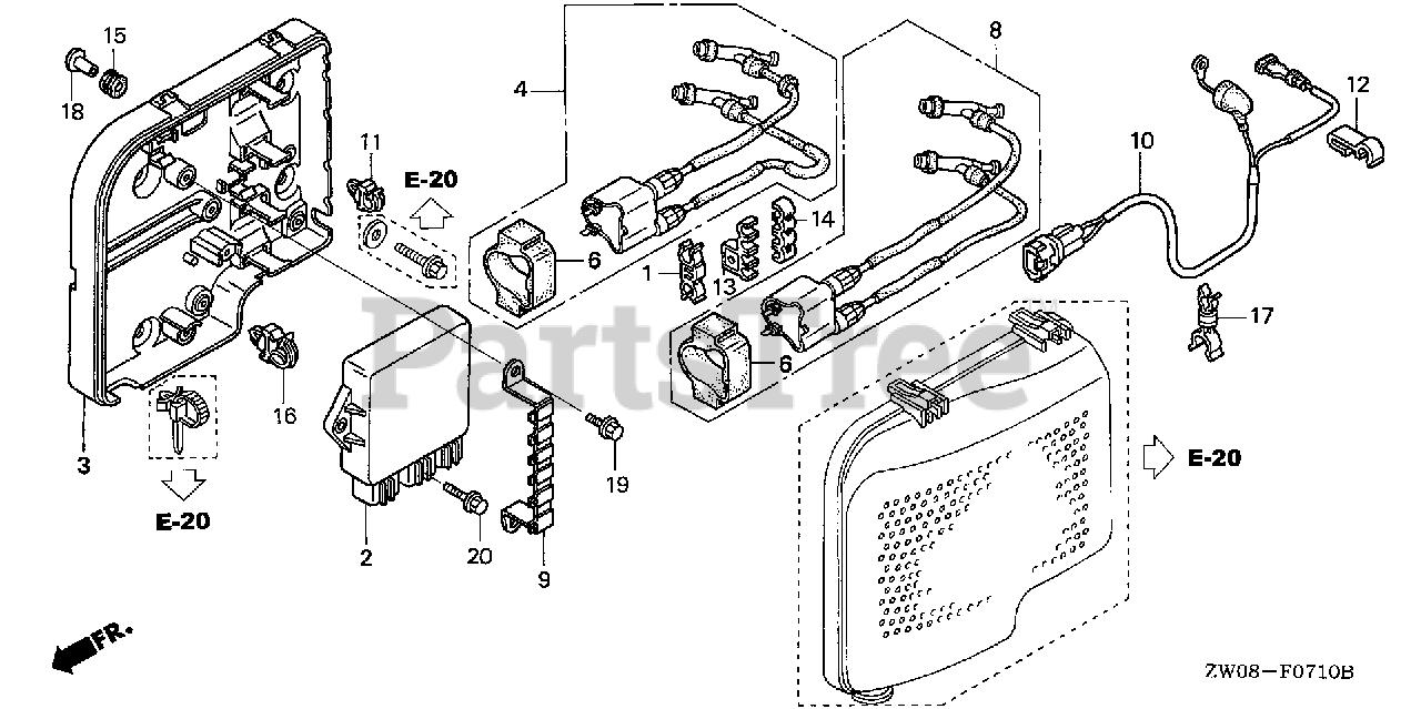 [SODI_2457]   Honda BF90 A4 LHTA (BBBL) - Honda Marine Engine, Made in Japan (SN:  BBBL-4600001 - BBBL-4699999) IGNITION COIL + C.D.I. UNIT Parts Lookup with  Diagrams | PartsTree | Honda Bf90 Wiring Diagram |  | PartsTree