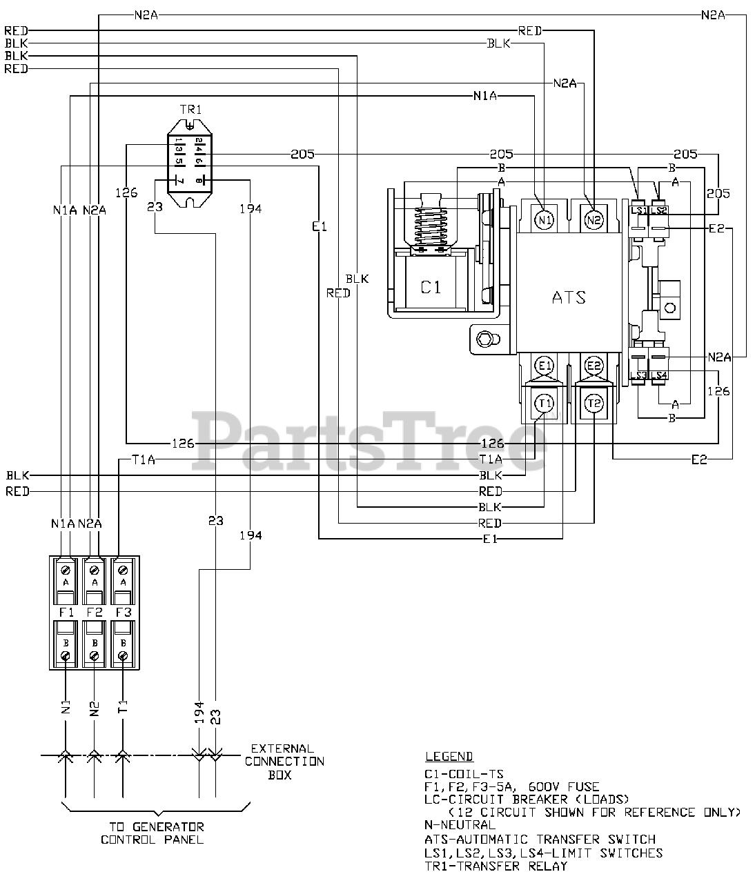 Transfer Switch Wiring Diagrams Generac from www.partstree.com
