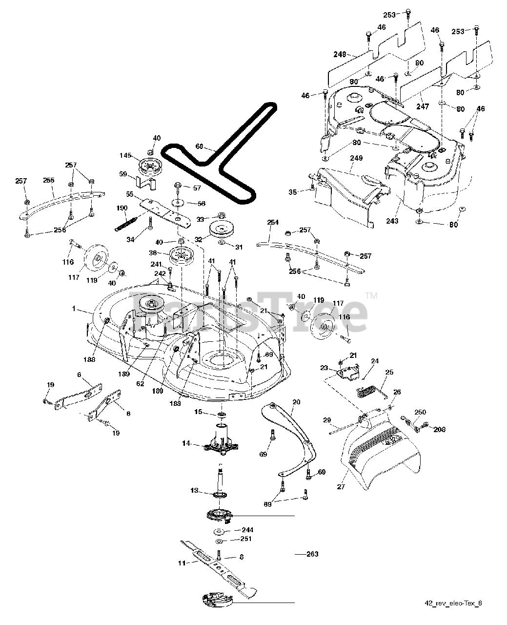 Schraube für Stützrad am Mähwerk passend Husqvarna TC342T 960510148 Rasentraktor