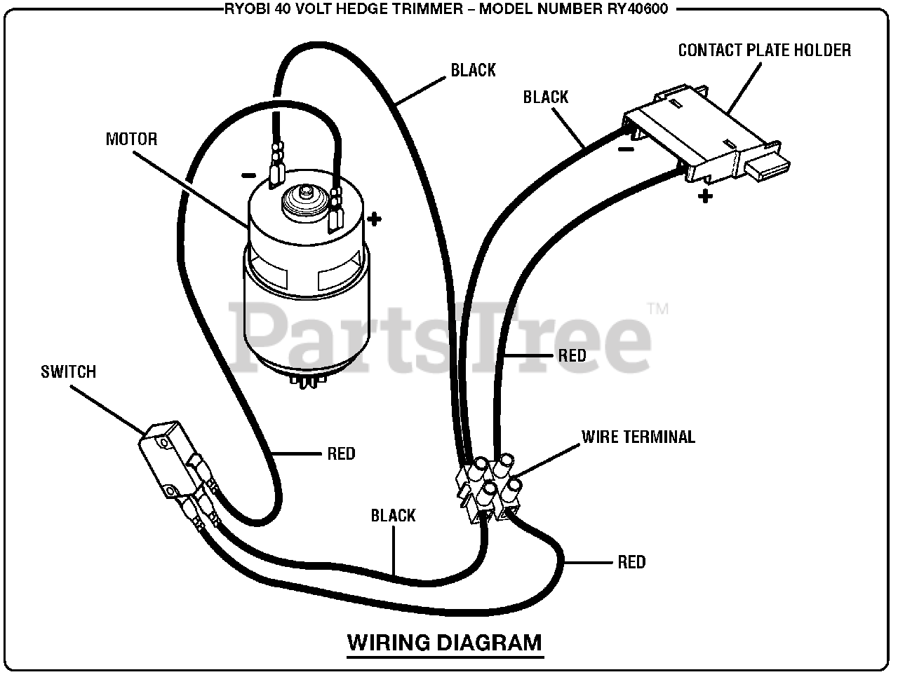 [DIAGRAM_5FD]  Ryobi RY 40600 - Ryobi Hedge Trimmer, 40 Volt Wiring Diagram Parts Lookup  with Diagrams | PartsTree | Trimmer Wiring Diagram |  | PartsTree
