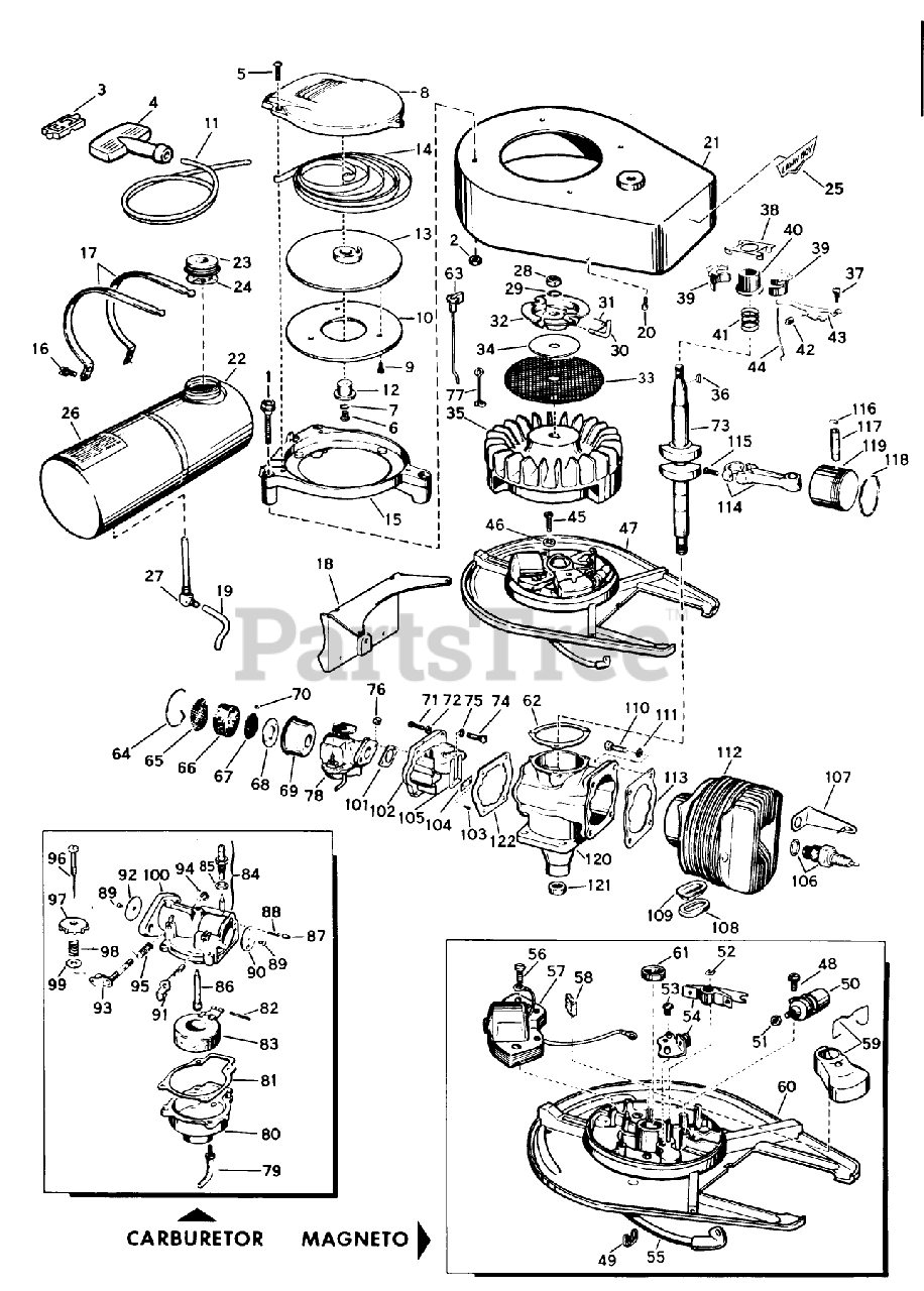 [DIAGRAM_38IS]  Lawn-Boy 8210 - Lawn-Boy Walk-Behind Mower (SN: 100000001 - 199999999)  (1961) MODEL C-70 ENGINE PARTS LIST Parts Lookup with Diagrams | PartsTree | Lawn Boy Engine Diagram |  | PartsTree
