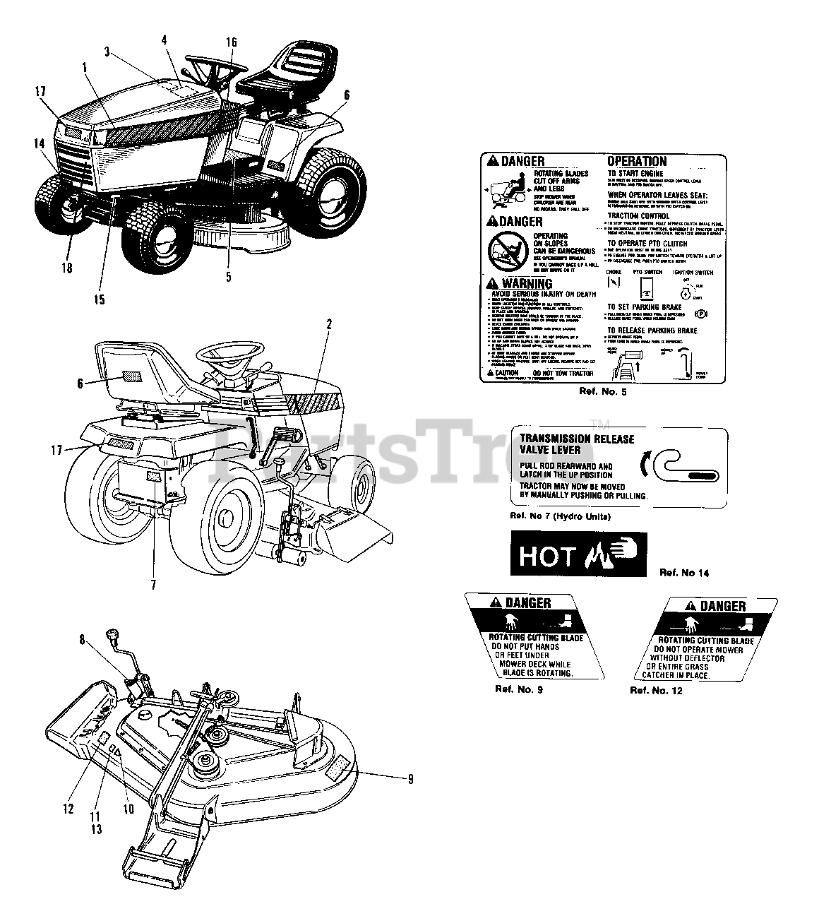 Agco 1616 H 1692108 Agco 38 Lawn Tractor 16hp Decal Group Agco Allis Models Parts Lookup With Diagrams Partstree