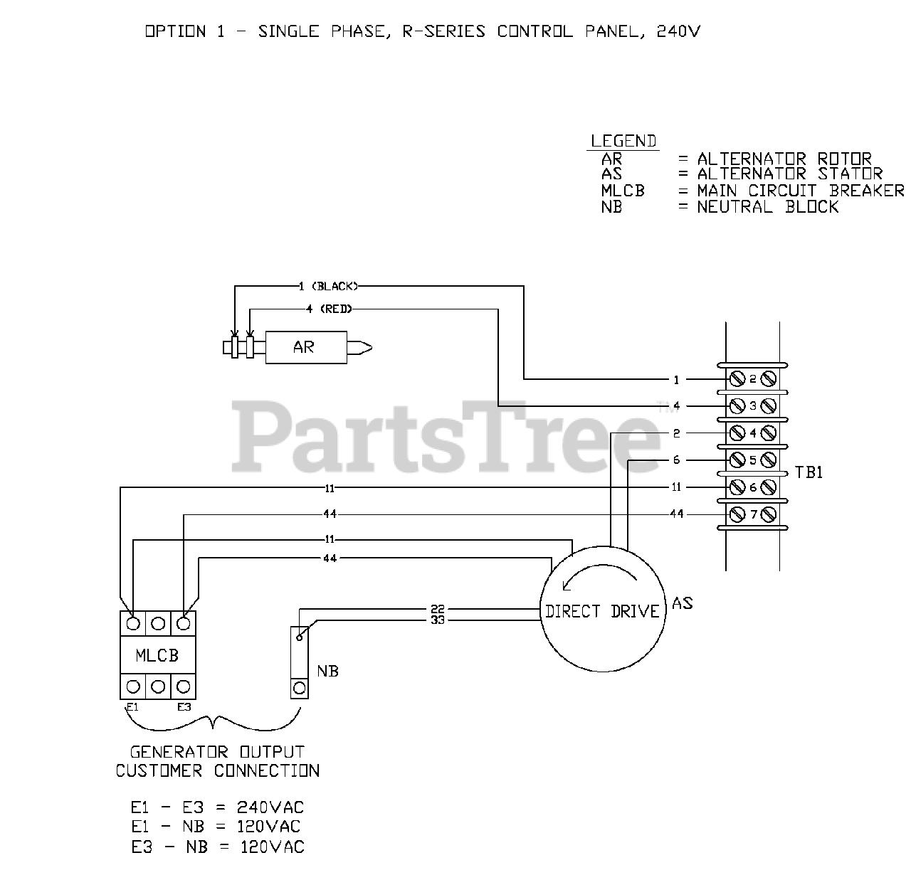 Generac Standby Generator Wiring Diagram from www.partstree.com