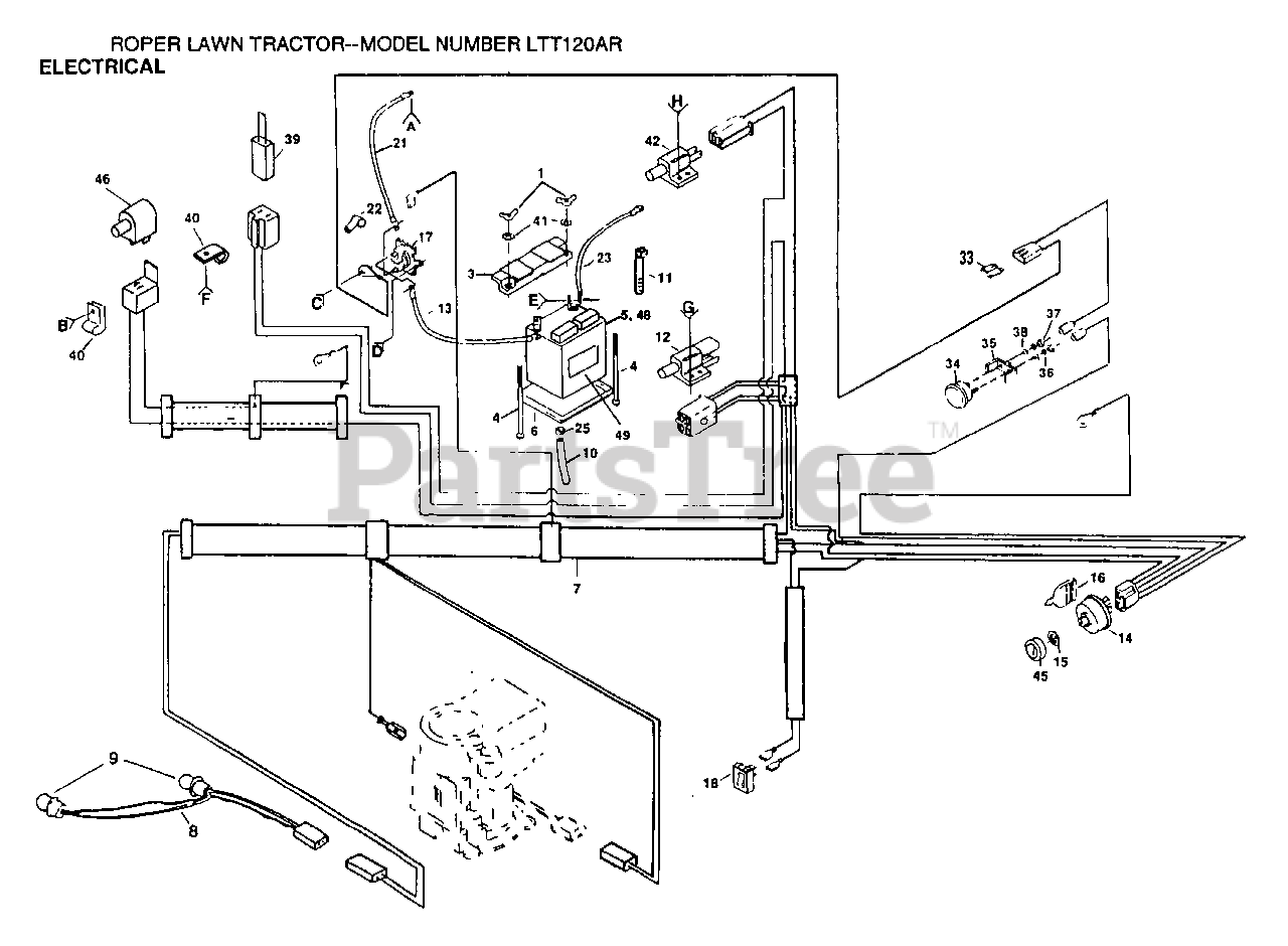 [ANLQ_8698]  Electrolux/AYP LTT 120 AR - Electrolux/AYP Lawn Tractor ELECTRICAL Parts  Lookup with Diagrams   PartsTree   Lawn Tractors Wiring Diagram For Electrolux      PartsTree