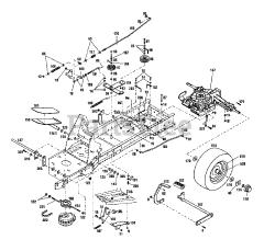 Troy-Bilt 13096 - Troy-Bilt Hydro LTX Lawn Tractor (SN