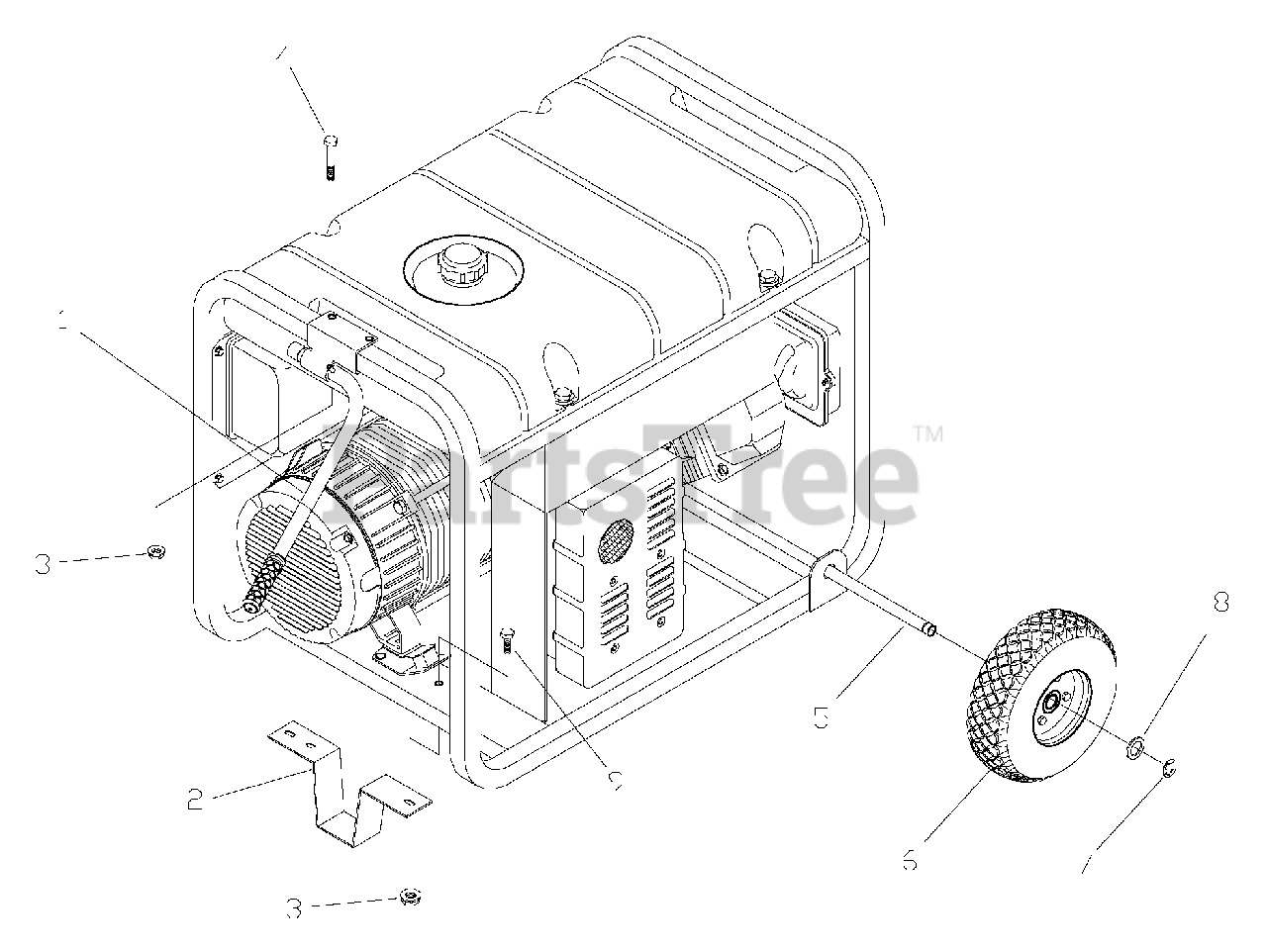 Troy-bilt Parts On The Wheel Kit Diagram For 1919-1